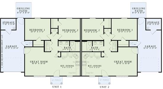 76 best images about multi unit plans on pinterest for Multi unit house plans