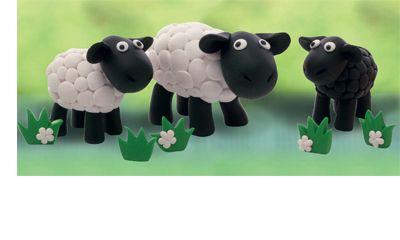 Lustige Schafe mit FIMO selbst gestalten