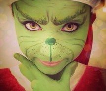 Inspiring image christmas, costume, green, grinch, make, make up, makeup #2335277 by marky - Resolution 800x800px - Find the image to your taste