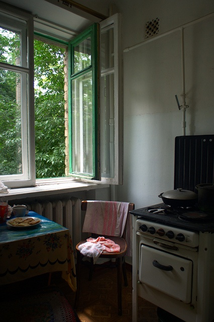 The Old Home - Empty chair by the window by Sasha Vasko, via Flickr