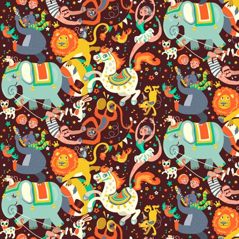 Circus Parade fabric by irrimiri on Spoonflower - custom fabric. Fantastic selection of fabrics, or create your own!