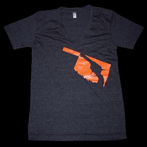 Pistols Firing!  OK Shooter V Neck