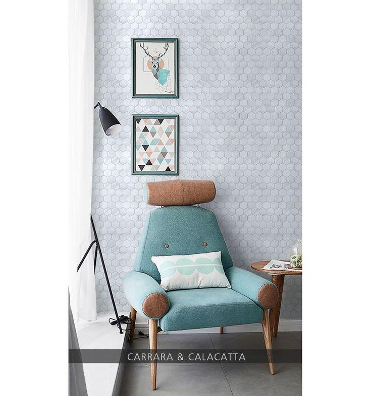 Heksagon marble mat XL - płytki ceramiczne/mozaika| sklep RawDecor.pl