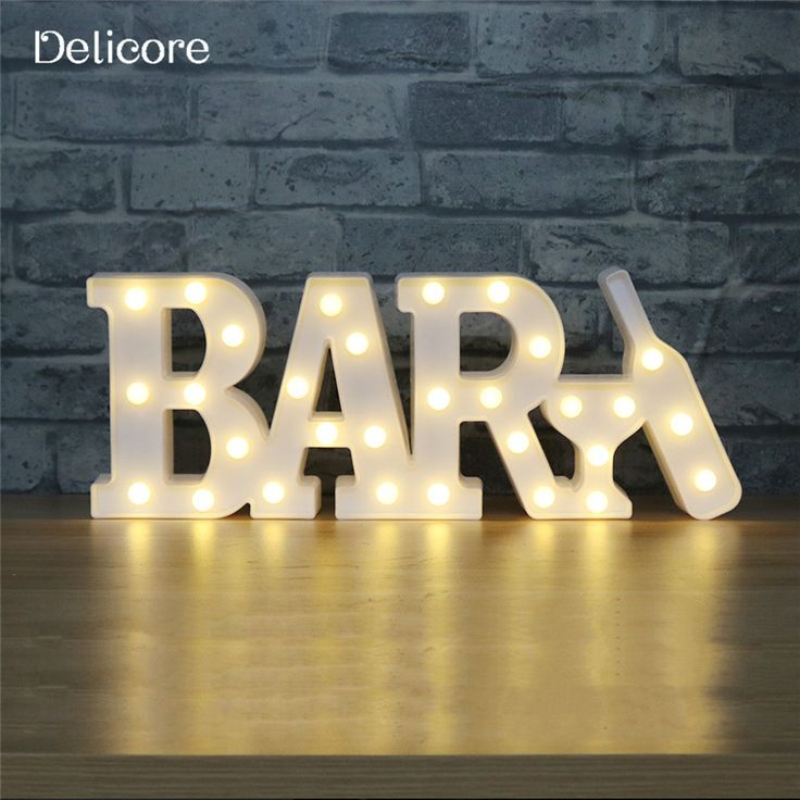 DELICORE New 30 LEDS Conjoined Letter Shaped