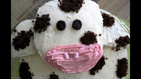 Kuh Torte selber backen! Einfache Kindergeburtstagstorte!How to make a cow cake!