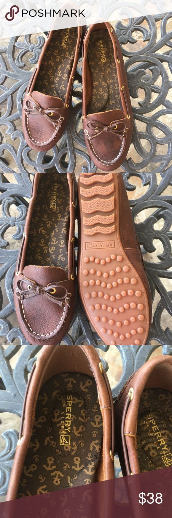 Leather Sperry Top Sider NWOT.  Never worn!  Stored in plastic shoebox.  8.5 m, leather upper. Sperry Top-Sider Shoes Flats & Loafers