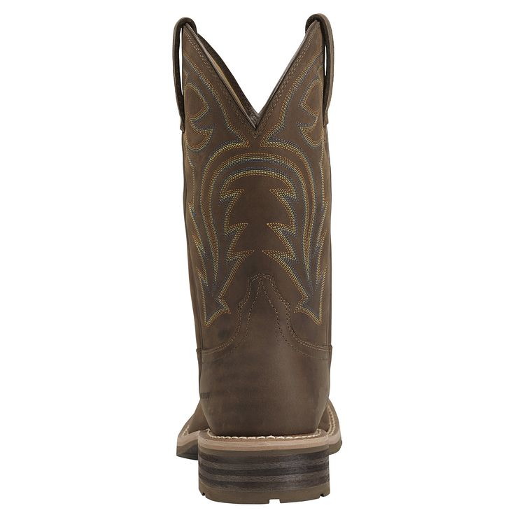 Men's Hybrid Rancher Waterproof Western Boots in Oily Distressed Brown, size 9.5 EE / Wide by Ariat
