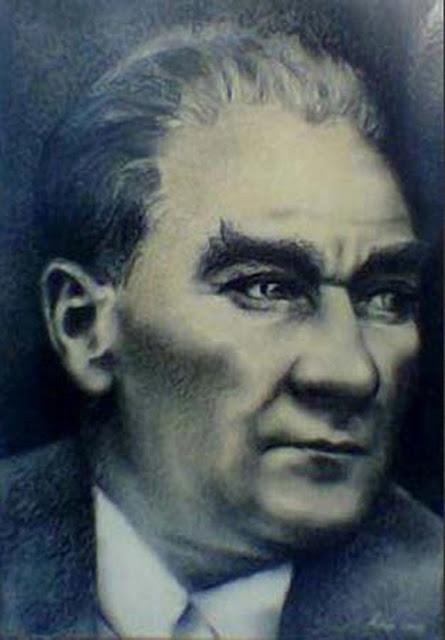 Karakalem Atatürk Portresi, Ressam Rukiye Garip