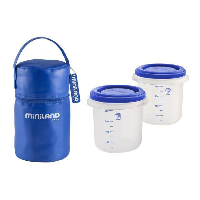 Pack 2 Go: Bolsa isotérmica + 2 Herméticos Miniland Hermisized azul