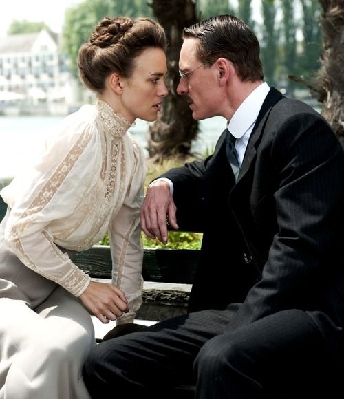 Keira Knightley as Sabina Spielrein and Michael Fassbender as Carl Jung in A Dangerous Method, 2011, Dir. David Cronenberg.