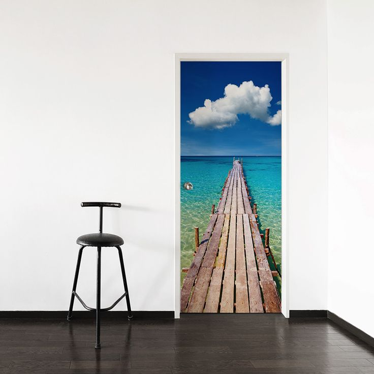 Youu0027ll Want To Run And Jump Off The End Of This Pier Into The Beautiful  Blue Water In Our Caribbean Pier Door Mural! This Removable And  Re Positionable Door ... Part 52