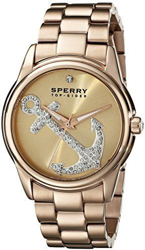 Sperry Top-Sider Women's 10018657 Audrey Anchor Stainless Steel Gold-Tone Watch
