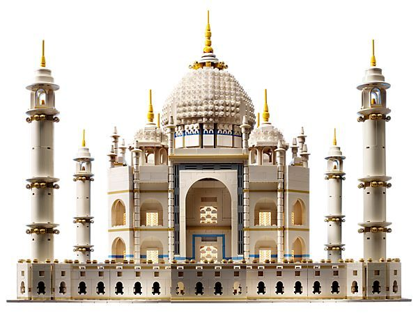 The Lego Taj Mahal is as breathtaking as the real one. Perfect for designers and architects.