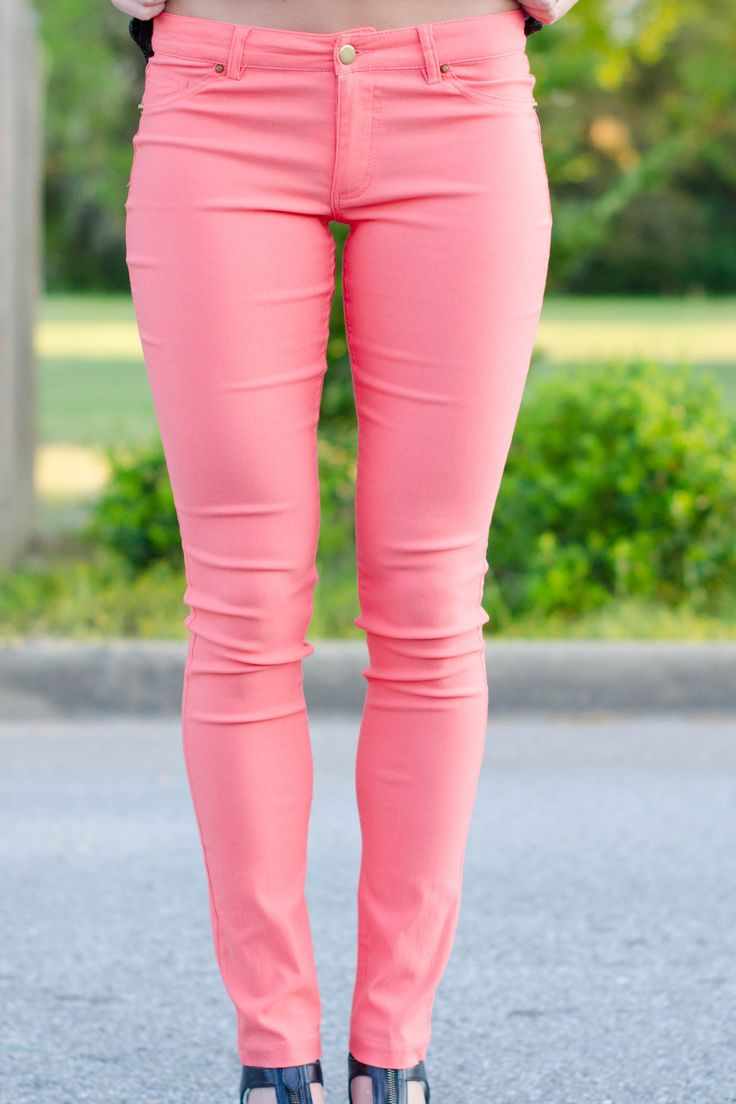 Karlie: Neon Jeggings, Coral - 62 Best Jeggings Images On Pinterest Jeggings, Clothes And