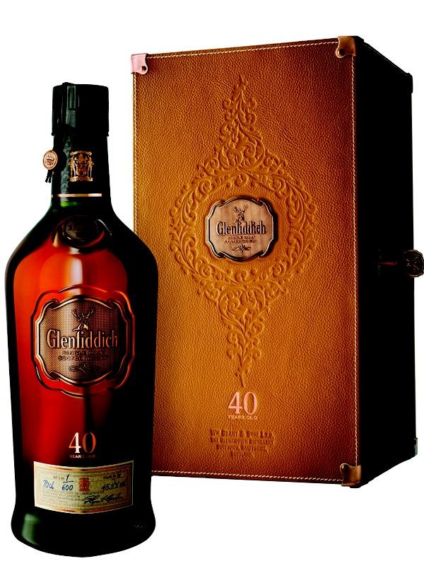 Glenfiddich 40 years single malt scotch whiskey