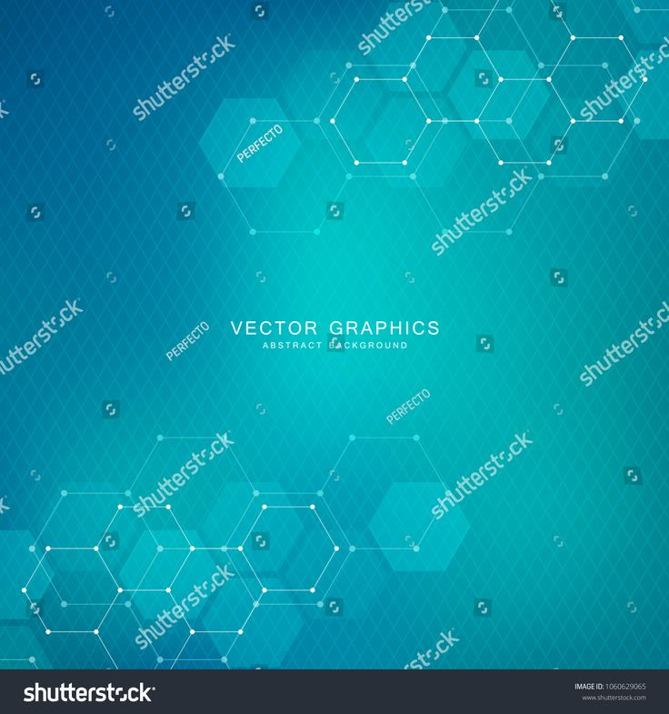 Science and technology background with hexagons. Molecular structure and chemical compounds. Geometric abstract background. Vector illustrationhexagon…
