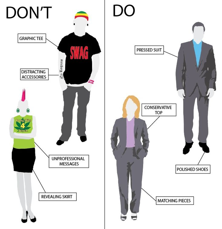 interview attire for men see more dont and do - How To Dress For An Interview Dress Code Factor