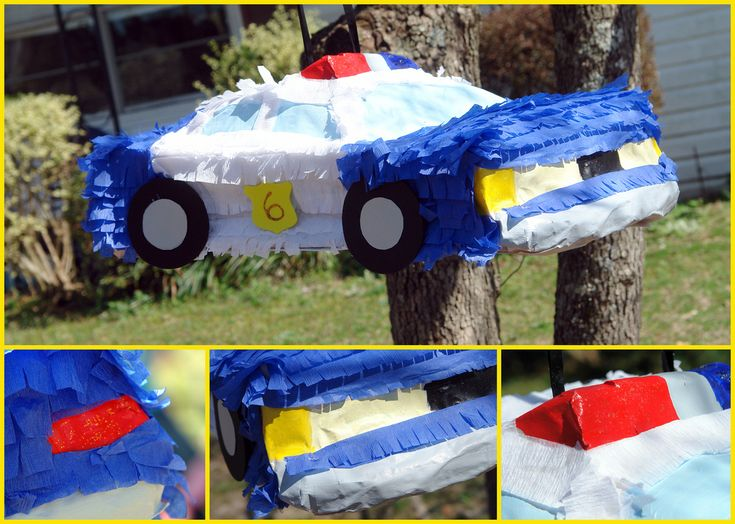 Lego Police Birthday Party Homemade Car Piñata | par booturtle