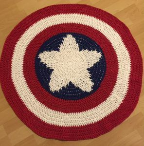 Captain America shield blanket - Made With Love by MrsC. – My crocheting life