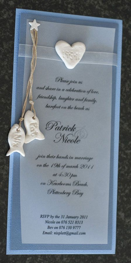 A wedding invitation idea!