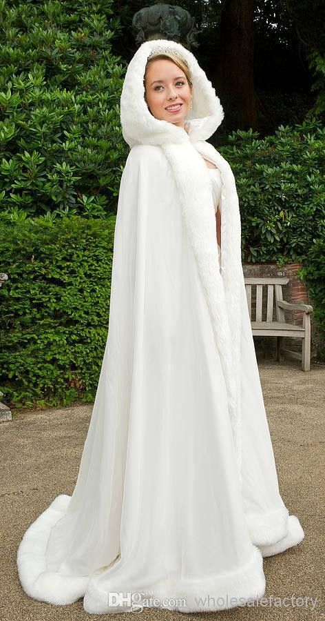 2013 Winter Wedding Cloak Cape Custom Made Hooded with Faux Fur Trim Long for Bride Satin Jacket-in Wedding Jackets / Wrap from Weddings & Events on Aliexpress.com   Alibaba Group