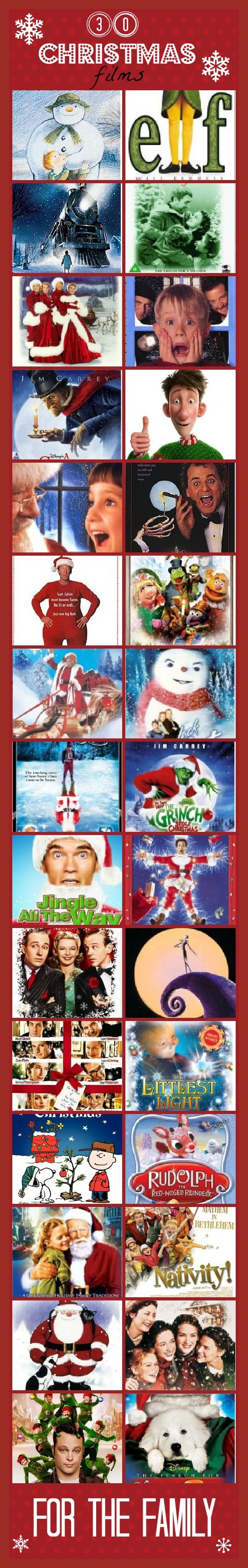 30 of the best CHRISTMAS movies for the family - is your favourite here? @Lauren Gilmore - speaking of Christmas movies... :)