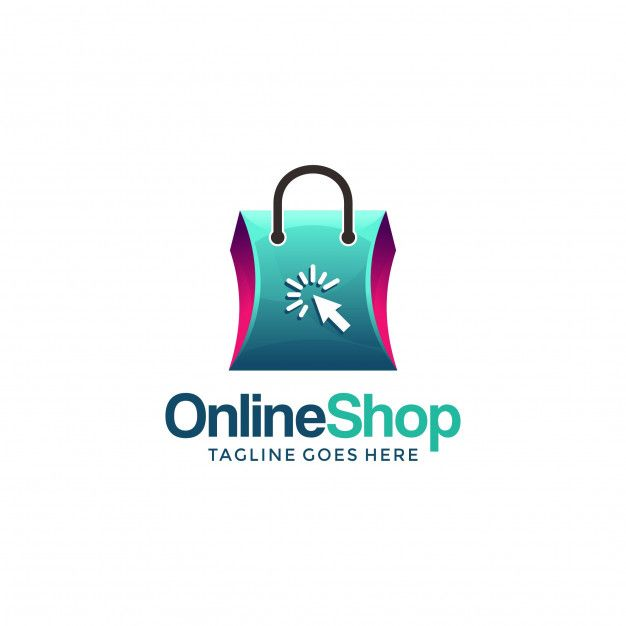 Online shopping logo design template for your company | Logo