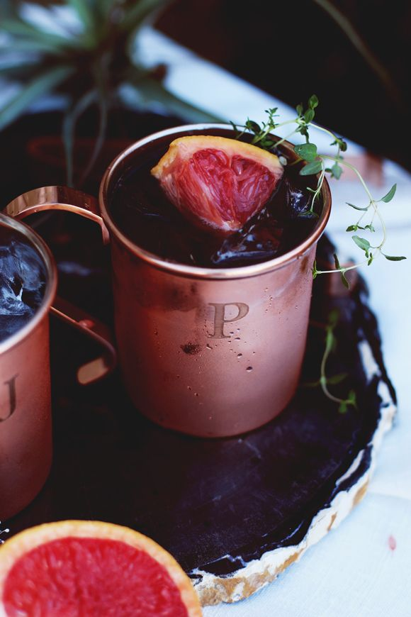 Winter Cocktail: Thyme & Grapefruit Moscow Mule
