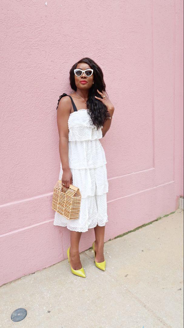 tier dress | White tiered dress