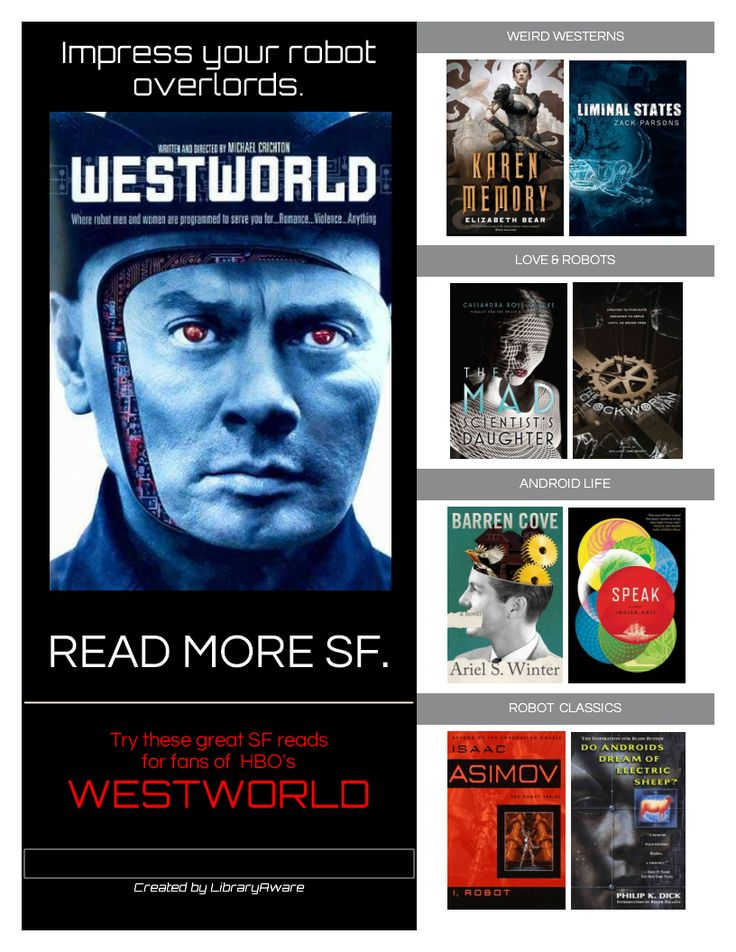 """Looking to get the attention of readers in your library? Try our newest read-a-like template. To use this one, search flyers-books for """"Westworld""""."""