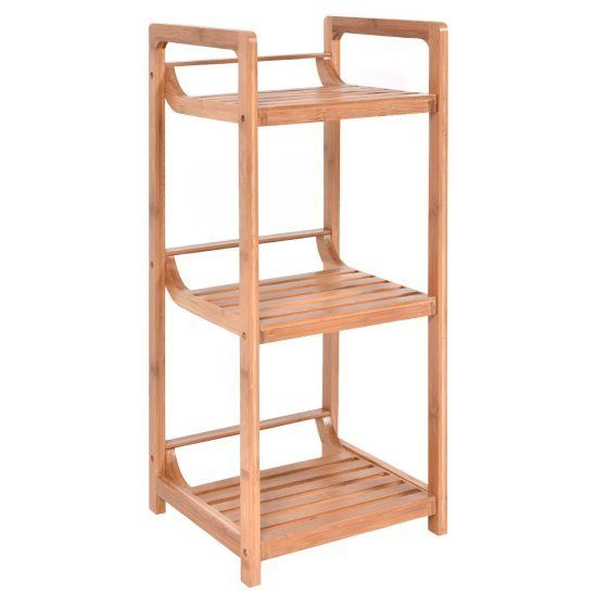 This is our new Wooden Bathroom Rack 3 Flat Shelving Storage Space Organizer, which is made of environment-friendly and sturdy bamboo. It's perfect to fit your bathroom, living room, balcony and kitchen room. Its compact design and great storage capabilities are just for elevating your bathroom to a new height. This small shelving unit, both decorative and functional, is perfect for hand towels and other bathroom Amenities. Smooth finish and round corners avoid scratching your family to…