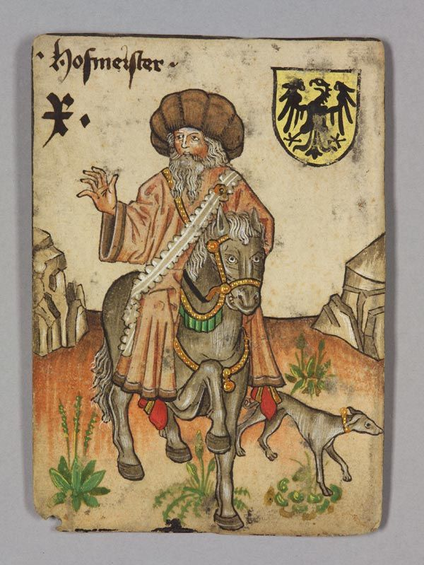 10 of Germany, Master of the Household. The Courtly Household Cards.