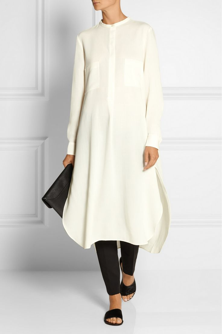 Studio Nicholson|Robinson oversized wool-voile tunic