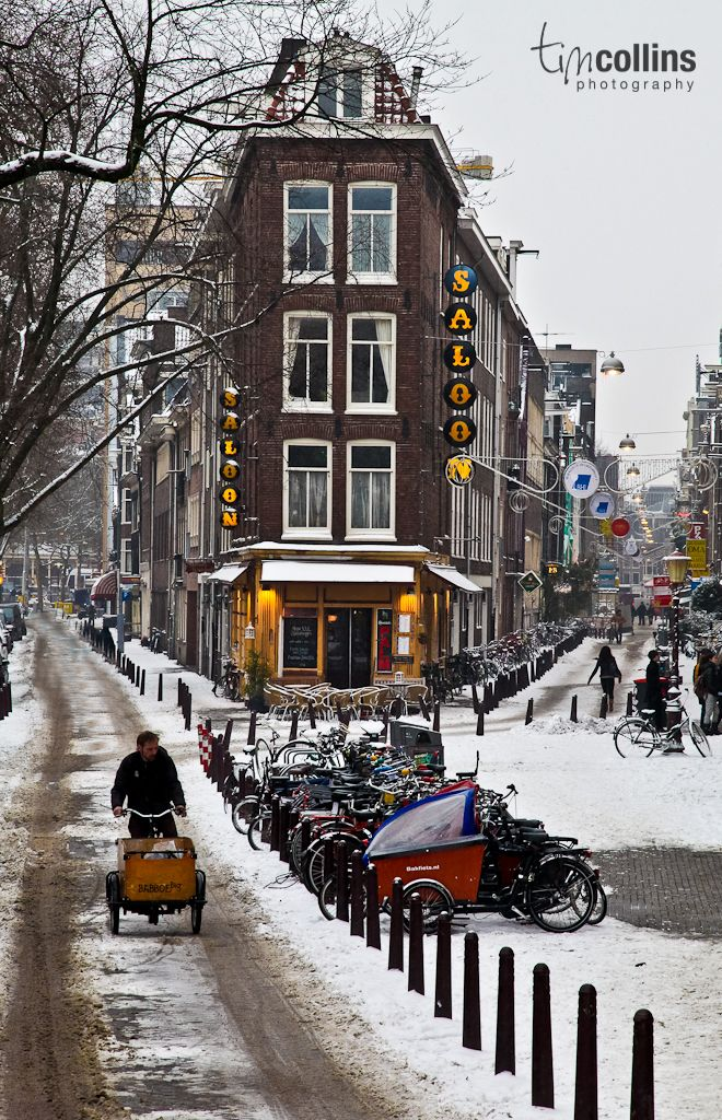 bicycling in winter in Amsterdam, The Netherlands | T M Collins Photography via Facebook #amsterdam #home #netherlands