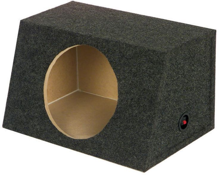 Qpower Heavy Duty Sealed Front-Angle Single 15-Inch Subwoofer Enclosure Subwoofer Box