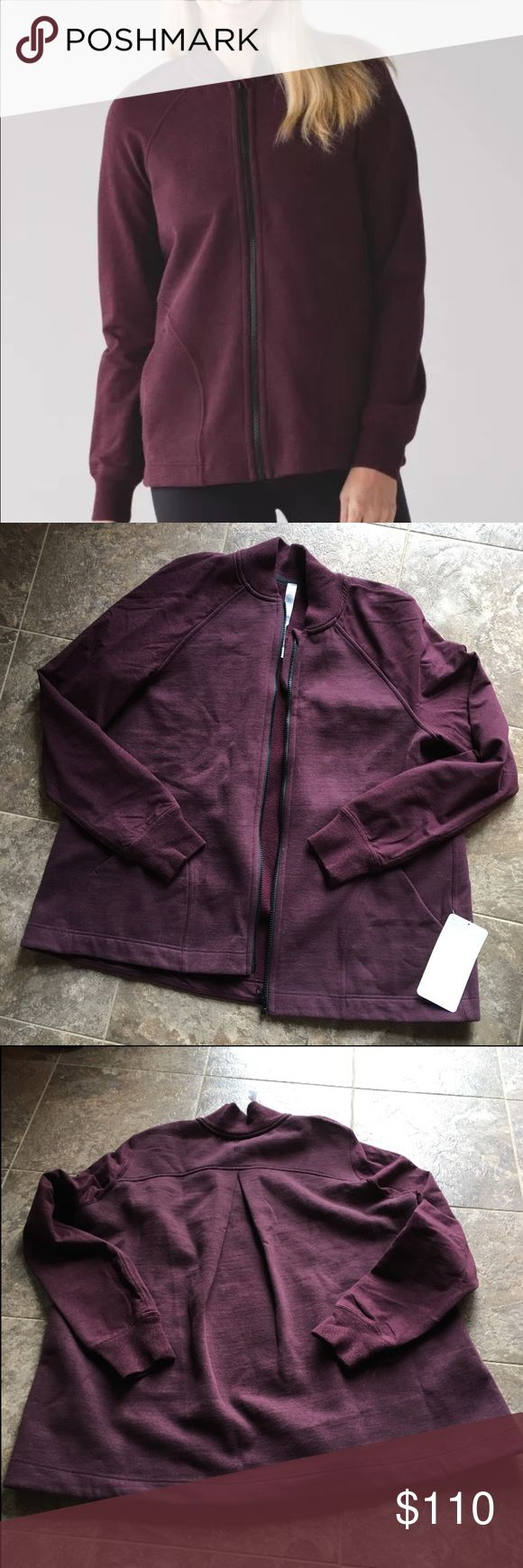 Lululemon PLEAT TO STREET BOMBER size 10 BORDEAUX New with tags. HEAHERED BORDEAUX color. No trades. PRICE FIRM lululemon athletica Jackets & Coats