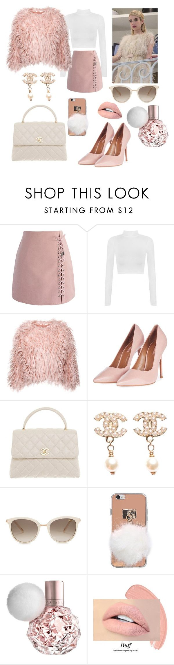 """Chanel Oberin styles"" by alexia-engelhardt on Polyvore featuring Chanel, Chicwish, WearAll, Topshop and Chopard"