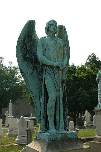 Male angel statue-Greenmount Cemetery, Baltimore...I never get tired of an Angel, especially One that's guarding something precious..