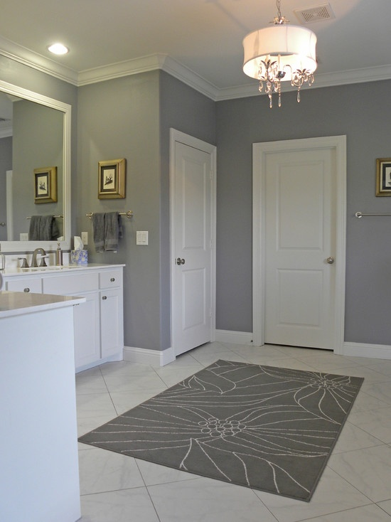 Traditional Grey Bathroom Design, Pictures, Remodel, Decor And Ideas