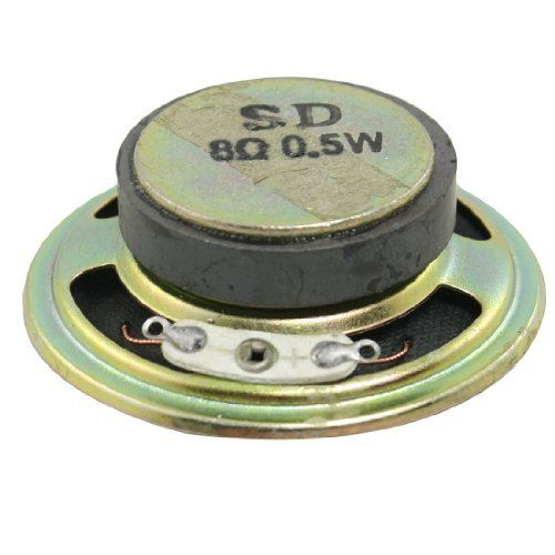 """Gino 2"""" Diameter Round Metal Shell External Magnet Speaker 8 Ohm 0.5W by Gino. $5.24. This external magnet speaker is designed with metal shell.Application: mini box speakers, music player, doorbell, computer, etc."""