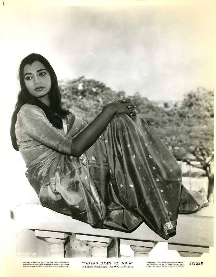 Tarzan goes to India doesn't sound promising but Simi looks quite charming in her early 60s attire. Also see here.  Desi version reviewed.