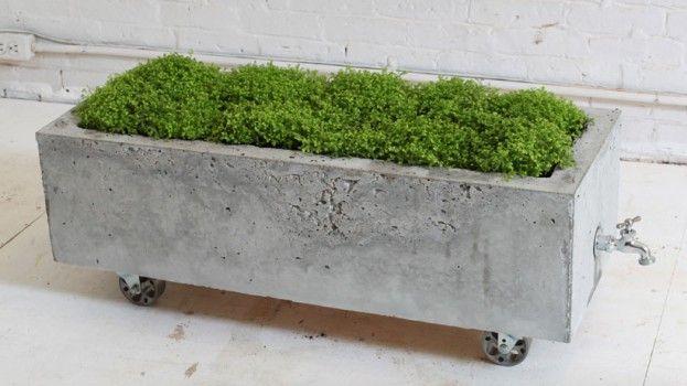 DIY: Maak een stoere betonnen plantenbak op wielen