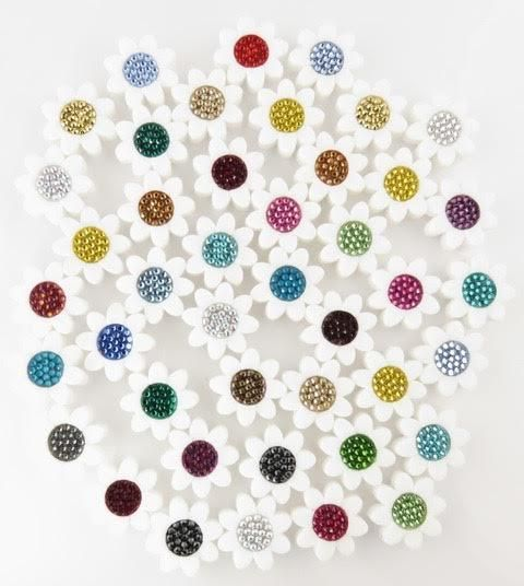 Emily Austin String Bling Tennis Racquet Dampeners We just love these pretty flower swarovski crystal tennis racquet vibration dampeners by Emily Austin designs.  Not only do they add style to your ra