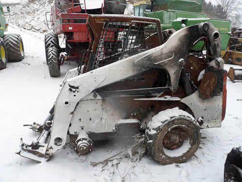 bobcat s250 skid steer salvaged for used parts new. Black Bedroom Furniture Sets. Home Design Ideas