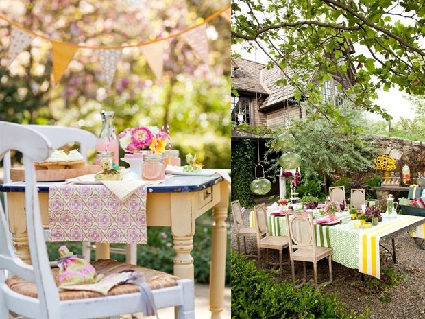 Le decorazioni fai da te per il party in giardino