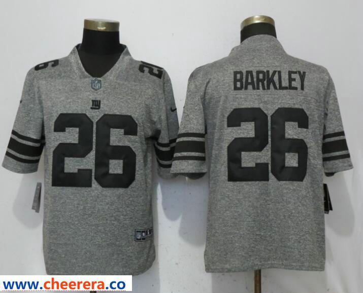 detailing 15002 671ce Men's Nike New York Giants #26 Saquon Barkley Gray Vapor ...