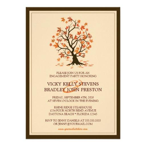 129 best TREE WEDDING Invitations images on Pinterest Engagement - engagement party invitation template