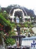 St Bernadette Soubirous' grotto in Lourdes France.