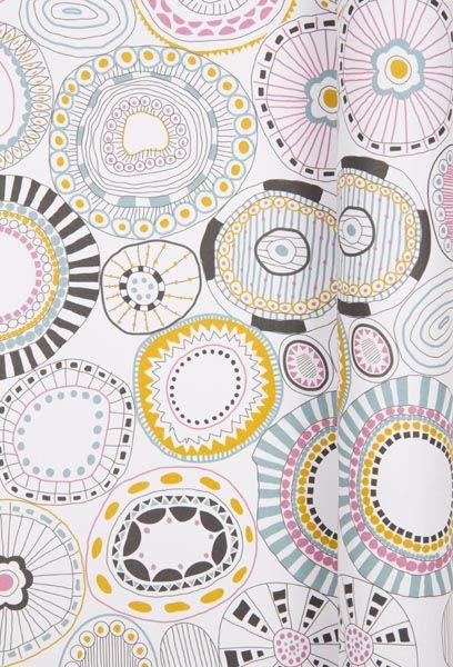 Diane Allan. Surface Pattern Designer ~ Kaleidoscope wrapping paper ~ Biology
