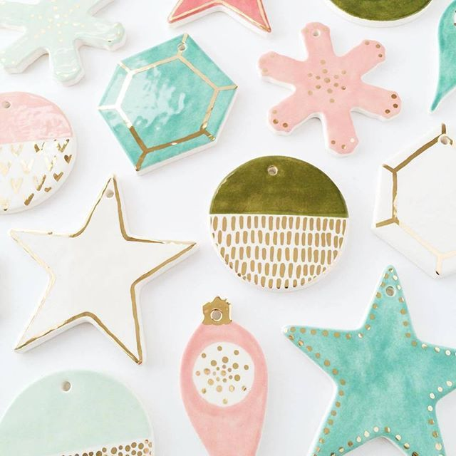 Christmas. Gold. Ornaments.